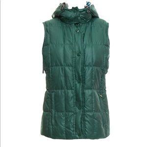Missoni green puffer vest